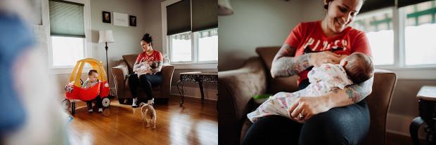 Chelsea Kyaw Photo - Iowa Photographer - Breastfeeding